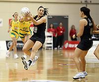 01.09.2010 Silver Ferns Joline Henry in action during the Silver Ferns v Australia New World netball test match in Wellington. Mandatory Photo Credit ©Michael Bradley.
