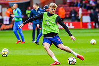 Nottingham Forest's defender Joe Worrall (6) for England U21's during the International Euro U21 Qualification match between England U21 and Ukraine U21 at Bramall Lane, Sheffield, England on 27 March 2018. Photo by Stephen Buckley / PRiME Media Images.