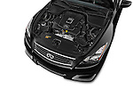 Car stock 2015 Infiniti Q60 Ipl 2 Door Convertible engine high angle detail view