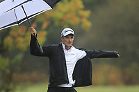Justin Rose (ENG) on the 3rd tee during Round 4 of the Sky Sports British Masters at Walton Heath Golf Club in Tadworth, Surrey, England on Sunday 14th Oct 2018.<br /> Picture:  Thos Caffrey | Golffile<br /> <br /> All photo usage must carry mandatory copyright credit (&copy; Golffile | Thos Caffrey)