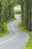 Mud Bay Road, with double yellow center line, Haines, Alaska
