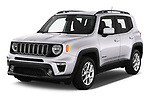 2019 JEEP Renegade Latitude 5 Door SUV Angular Front automotive stock photos of front three quarter view