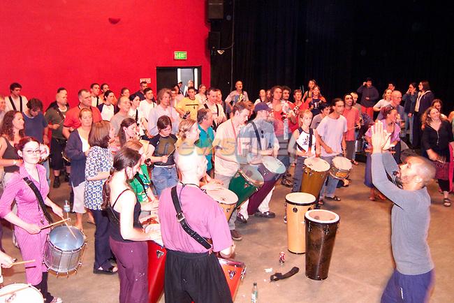 The Dudu Tucci Samba Workshop in the Droichead Arts Centre on Saturday..Picture: Paul Mohan/Newsfile