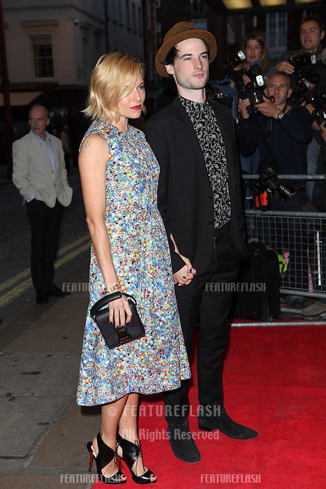 Sienna Miller and Tom Sturridge driving for the Effie Gray premiere, Curzon Mayfair, London. 05/10/2014 Picture by: Alexandra Glen / Featureflash