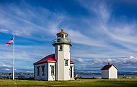 Vashon-Maury Island, WA: Point Robinson Lighthouse with afternoon light