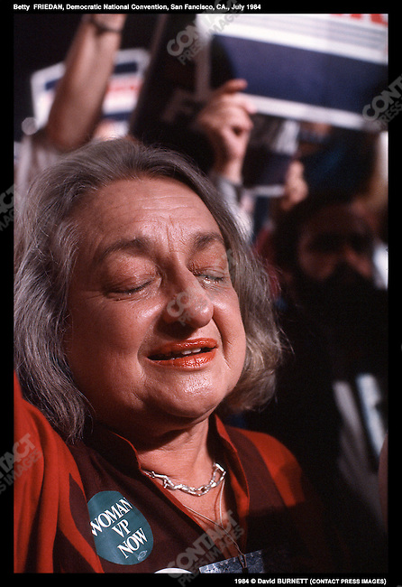 Betty Friedam, Democratic National Convention, San Francisco, CA, July 1984..1984 © David BURNETT (CONTACT PRESS IMAGES)