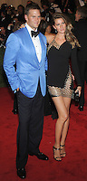 "NEW YORK, NY - MAY 06: Tom Brady and Gisele Bundchen arrive at the ""PUNK: Chaos To Couture"" Costume Institute Gala held at the Metropolitan Museum of Art on May 6, 2013 in New York City. (Photo by Celebrity Monitor)"