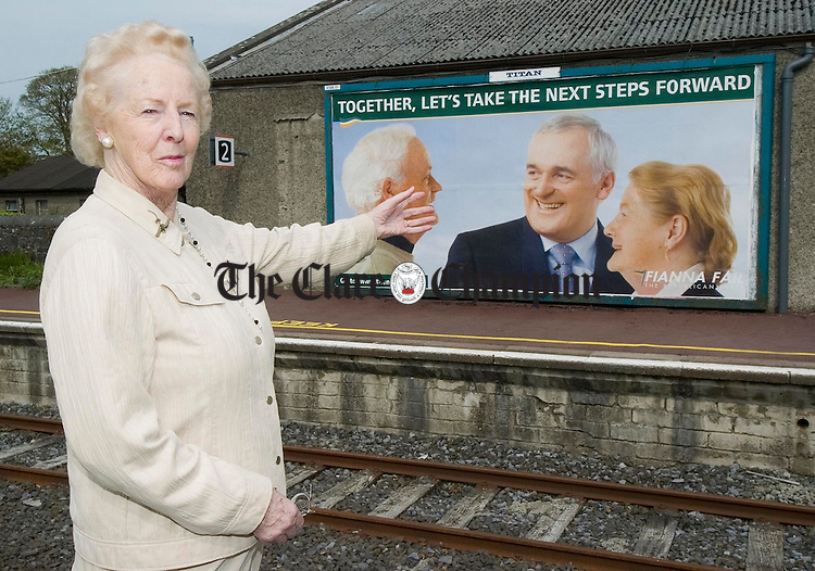 Former senator and Ennis Town council member Tras Honan, now deputy chairperson of the board of Bus Eirreann, admiring a 48 spread poster at the official opening of the newly refurbished Bus Eireann station at Ennis. Photograph by John Kelly.