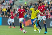 June 1th 2017, Ullevaal Stadion, Oslo, Norway; International Football Friendly 2018 football, Norway versus Sweden;  Sebastian Larsson of Sweden battles with Bjorn Maars Johnsen of Norway