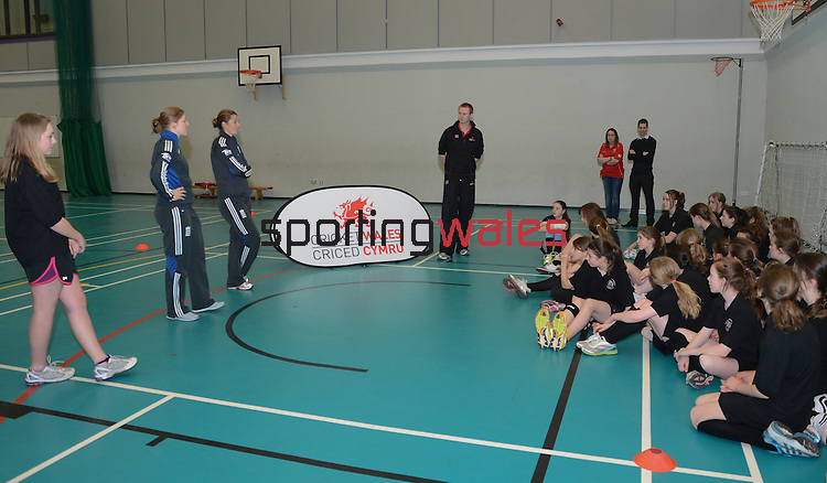 England Womans Captain Charlotte Edwards and Heather Knight during the Q&A..Cowbridge Comprehensive School Girls Cricket Club with England Womans Captain Charlotte Edwards and Heather Knight - 16th April 2013 - Cricket Wales -  Cowbridge - Vale of Glamorgan..© www.sportingwales.com- PLEASE CREDIT IAN COOK