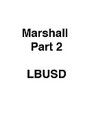 Marshall Part 2 LBUSD