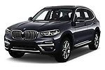 2018 BMW X3 xLine 5 Door SUV angular front stock photos of front three quarter view