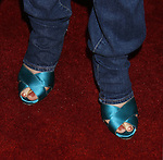 """Actress Rosanna Arquette 's shoes at the """"Iron Man"""" premiere at Grauman's Chinese Theatre on April 30, 2008 in Hollywood, California."""