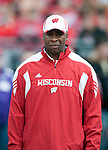 Wisconsin Badgers assistant coach Greg Jackson during an NCAA college football game against the Austin Peay Governors on September 25, 2010 at Camp Randall Stadium in Madison, Wisconsin. The Badgers beat the Governors 70-3. (Photo by David Stluka)