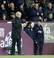Burnley manager Sean Dyche checks his watch in the closing minutes <br /> <br /> Photographer Rich Linley/CameraSport<br /> <br /> The Premier League - Burnley v Brighton and Hove Albion - Saturday 8th December 2018 - Turf Moor - Burnley<br /> <br /> World Copyright © 2018 CameraSport. All rights reserved. 43 Linden Ave. Countesthorpe. Leicester. England. LE8 5PG - Tel: +44 (0) 116 277 4147 - admin@camerasport.com - www.camerasport.com