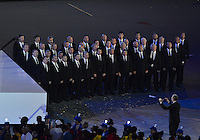 August 12, 2012..The choir performs during closing ceremony at the Olympic Stadium on the last day of 2012 Olympic Games in London, United Kingdom.