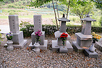 """The House of Sharing for Comfort Women, June 7, 2016 : Tombstones of comfort women perished are seen at the House of Sharing in Gwangju, Gyeonggi province, about 30 km (18 miles) southeast of Seoul, June 7, 2016. The House of Sharing is a shelter for living South Korean """"comfort women"""", who said they were forced to become sexual slavery by Japanese military during the Second World War. It was founded in 1992 with funds organized by Buddhists and other civic groups. The Museum of Sexual Slavery by Japanese Military locates in the shelter. (Photo by Lee Jae-Won/AFLO) (SOUTH KOREA)"""