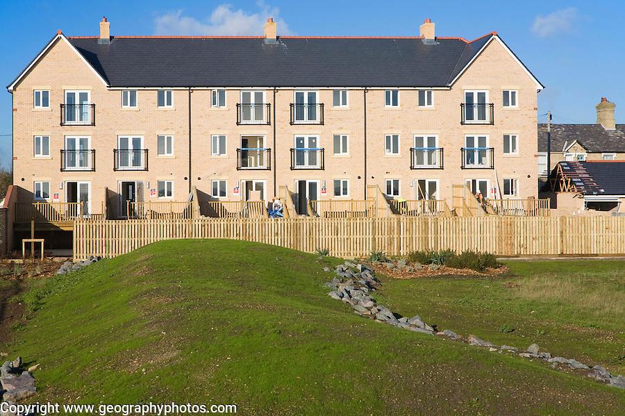New housing development Martello Park on the coast Felixstowe, Suffolk, England