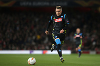 Piotr Zielinski of Napoli in action during Arsenal vs Napoli, UEFA Europa League Football at the Emirates Stadium on 11th April 2019