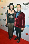MIAMI BEACH, FL - MAY 31: Fashion designer Herminas Reea and Samuel Marin attend the Miami Fashion Week Benefit Gala Hosted by Antonio Banderas at Faena Forum on May 31, 2019 in Miami Beach, Florida. ( Photo by Johnny Louis / jlnphotography.com )