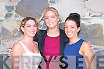Emer O'Sullivan, Rachel O'Sullivan and Chantelle Sidler Glenbeigh having fun at the Kerry Fashion Week fashion show in Jack's restaurant Cromane on Thursday evening..
