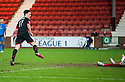 Par's Lawrence Shankland scores their third goal on his debut.