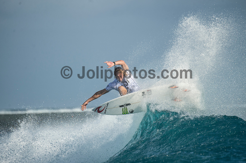 Namotu Island Resort, Namotu, Fiji. (Tuesday June 3 2014)  Owen Wright (AUS) – The 2014 Fiji Pro was called on this morning with the swell running in the 3' plus range. The start was delayed till 10.30 am because of the 9.30 am high tide and then they ran the whole of Round 1. Photo: joliphotos.com, 2014) – The 2014 Fiji Pro was called on this morning with the swell running in the 3' plus range. The start was delayed till 10.30 am because of the 9.30 am high tide and then they ran the whole of Round 1. Photo: joliphotos.com June 2, 2014) – The 2014 Fiji Pro was called on this morning with the swell running in the 3' plus range. The start was delayed till 10.30 am because of the 9.30 am high tide and then they ran the whole of Round 1. Photo: joliphotos.com