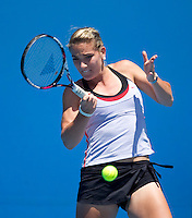 Timea Babos (HUN) (1) against Sandra Zaniewska(POL) in the Second Round of the Junior Girls Singles. Babos beat Zaniewska 1-6 6-4 6-1 ..International Tennis - Australian Open Tennis -  Tues 26  Jan 2010 - Melbourne Park - Melbourne - Australia ..© Frey - AMN Images, 1st Floor, Barry House, 20-22 Worple Road, London, SW19 4DH.Tel - +44 20 8947 0100.mfrey@advantagemedianet.com