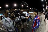 2017 IndyCar Media Day - Track Action<br /> Phoenix Raceway, Arizona, USA<br /> Friday 10 February 2017<br /> Takuma Sato and Japanese media<br /> World Copyright: Michael L. Levitt/LAT Images<br /> ref: Digital Image _AT_2559