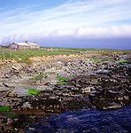Old abandoned croft building by the shore, Papa Westray, Orkney Islands, Scotland