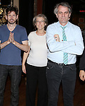 Tim Wright, Cass Morgan and Director Bartlett Sher during the Actor's Equity Opening Night Gypsy Robe Ceremony honoring Jennifer Allen for 'The Bridges of Madison County'  at the Gerald Schoenfeld Theatre on February 20, 2014 in New York City.