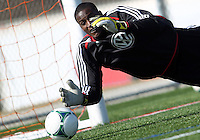 WASHINGTON, DC - February 06, 2012: Bill Hamid of DC United during a pre-season practice session at Long Bridge Park, in Arlington, Virginia on February 6, 2013.