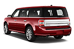 Car pictures of rear three quarter view of a 2019 Ford Flex Limited 5 Door SUV angular rear