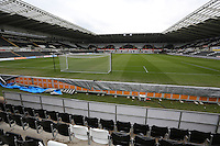 Pictured: Interior view of the Liberty Stadium, home ground of Swansea City FC and the Ospreys RFC. Thursday 04 April 2013