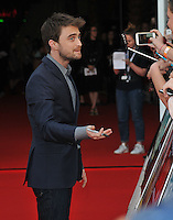 Daniel Radcliffe at the Empire Live &quot;Swiss Army Man&quot; and &quot;Imperium&quot; double bill film premieres, The O2, Peninsula Square, London, England, UK, on Friday 23 September 2016.<br /> CAP/CAN<br /> &copy;CAN/Capital Pictures /MediaPunch ***NORTH AND SOUTH AMERICAS ONLY***