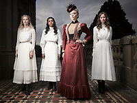 Picnic at Hanging Rock (2018) <br /> Promo shot of Natalie Dormer, Samara Weaving, Lily Sullivan &amp; Madeleine Madden<br /> *Filmstill - Editorial Use Only*<br /> CAP/MFS<br /> Image supplied by Capital Pictures