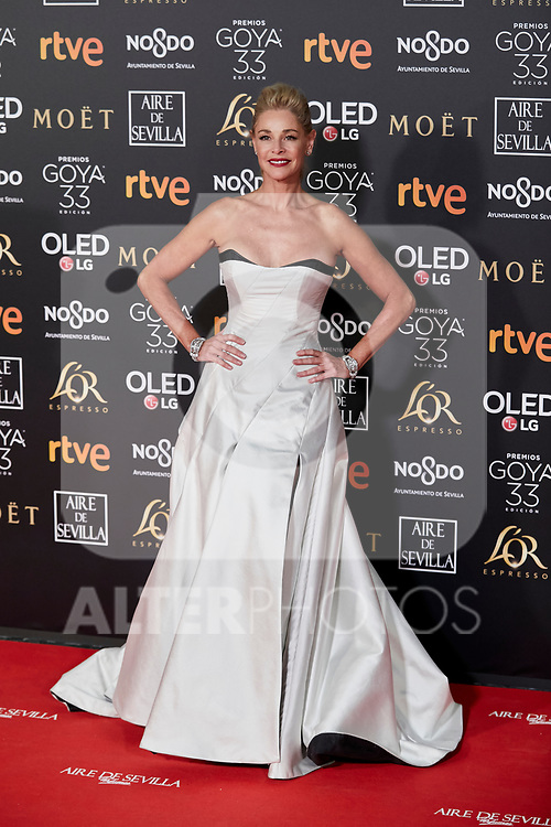Belen Rueda attends to 33rd Goya Awards at Fibes - Conference and Exhibition  in Seville, Spain. February 02, 2019. (ALTERPHOTOS/A. Perez Meca)