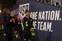 Carson, CA - Sunday January 28, 2018: Bill Hamid, Zack Steffen prior to an international friendly between the men's national teams of the United States (USA) and Bosnia and Herzegovina (BIH) at the StubHub Center.