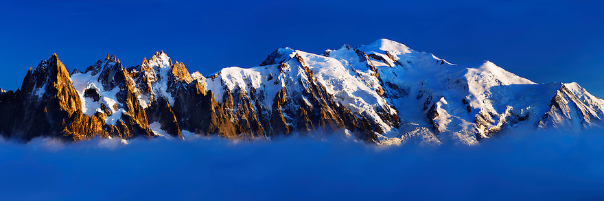 Mountain impression Aiguilles de Chamonix, Mont Blanc - Europe, France, Haute Savoie, Aiguilles Rouges, Chamonix, Lac Blanc - Sunset - September 2008