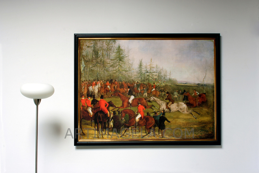 "Alken: At The Finish, Digital Print, Image Dims. 34.75"" x 47.5"", Framed Dims. 39"" x 52"""