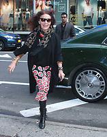 April. 09, 2019  Diane von Furstenberg at Strahan & Sara in New York April 09, 2019.<br /> CAP/MPI/RW<br /> ©RW/MPI/Capital Pictures