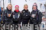 Georgia Coveney, Jennifer O'Shaughnessy, Sophia McKeon, Mia Murphy enjoying The Fenit Sailing School Munster optimist Competition on Saturday