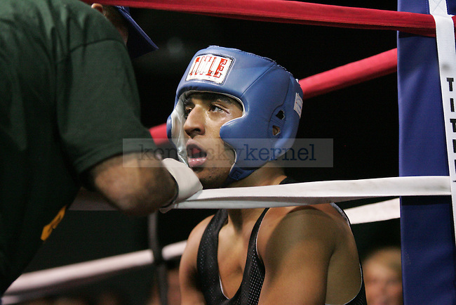 Ahmon McCollum of Sigma Chi rests between rounds at The Main Event, where proceeds benefitted The Huntsman Cancer Institute and The Ronald McDonald House in Lexington, Ky. on 11/11/11. Photo by Quianna Lige | Staff