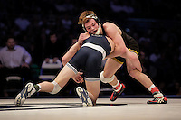 STATE COLLEGE, PA - FEBRUARY 8: Brandon Sorensen of the Iowa Hawkeyes and Zack Beitz of the Penn State Nittany Lions during their match on February 8, 2015 at the Bryce Jordan Center on the campus of Penn State University in State College, Pennsylvania. The Hawkeyes won 18-12. (Photo by Hunter Martin/Getty Images) *** Local Caption *** Brandon Sorensen;Zack Beitz