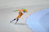 SCHAATSEN: HEERENVEEN: 05-10-2013, IJsstadion Thialf, Trainingwedstrijd, 1500m, Patrick Roest, ©foto Martin de Jong