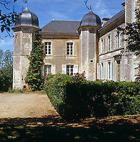 Side and rear view of the 18th century chateau from the garden