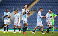 Blackburn Rovers' Derrick Williams applauds the fans after the match<br /> <br /> Photographer Alex Dodd/CameraSport<br /> <br /> The EFL Sky Bet Championship - Blackburn Rovers v Stoke City - Saturday 6th April 2019 - Ewood Park - Blackburn<br /> <br /> World Copyright © 2019 CameraSport. All rights reserved. 43 Linden Ave. Countesthorpe. Leicester. England. LE8 5PG - Tel: +44 (0) 116 277 4147 - admin@camerasport.com - www.camerasport.com
