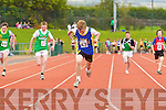 Alan O'Riordan Spa Muckross winner of the boys U-14 100m Semi Final  at the Kerry community games athlethics finals at an Riocht, Castleisland on Sunday.