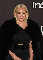 LOS ANGELES, CALIFORNIA - JANUARY 06: Hilary Duff attends the Warner InStyle Golden Globes After Party at the Beverly Hilton Hotel on January 06, 2019 in Beverly Hills, California. <br /> CAP/MPI/IS<br /> &copy;IS/MPI/Capital Pictures