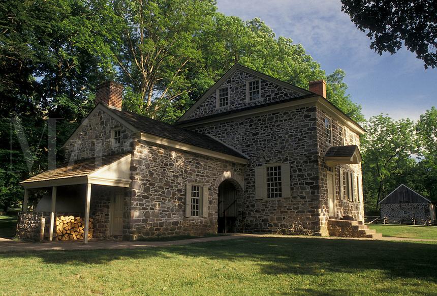 AJ4324, Valley Forge, Washington's Headquarters, Valley Forge National Historical Park, Pennsylvania, Washington's Headquarters at Valley Forge Nat'l Historical Park in the state of Pennsylvania.